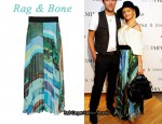 In Mena Suvari's Closet - Rag & Bone Bequia Printed Silk Maxi Skirt