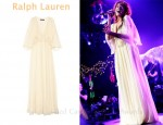 In Florence Welch's Closet - Ralph Lauren Chandra Beaded-Embellished Silk-Chiffon Dress