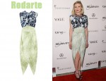 In Kirsten Dunst's Closet - Rodarte Ming-Print Silk-Blend Oganza and Crepe Dress
