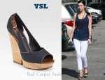 In Megan Fox's Closet - YSL Deauville Wedge Sandals