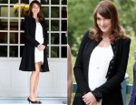 Carla Bruni-Sarkozy In Chanel - G8 Summit