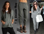 In Cheryl Cole's Closet - T by Alexander Wang Hoodie and Low Gauge Batting Sweat Pants