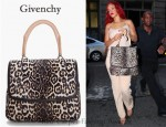 In Rihanna's Closet - Givenchy Leopard Print Shoulder Bag
