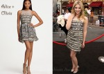 In Ashley Benson's Closet - Alice + Olivia 'Stacey' Layered Party Dress