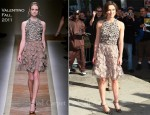 "Keira Knightley In Valentino - ""The Daily Show with Jon Stewart"""