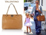 In Jessica Alba's Closet - Valentino Rockstud Leather Bag