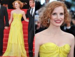 "Jessica Chastain In Zac Posen Couture - 2011 Cannes Film Festival ""The Tree Of Life"" Premiere"