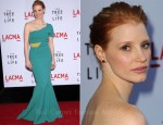 "Jessica Chastain In Roland Mouret - ""The Tree Of Life"" LA Premiere"