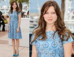 "Lea Seydoux In Prada - 2011 Cannes Film Festival ""Midnight In Paris"" Photocall"