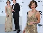 Milla Jovovich In Atelier Versace - 2011 amfAR's Cinema Against AIDS Gala