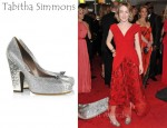In Saoirse Ronan's Closet - Tabitha Simmons Dixie Lizard and Glitter-Finish Pumps
