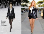 Blake Lively In Chanel Couture - Chanel Resort 2012 Presentation