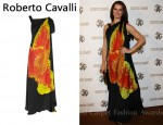 In Brooke Shields' Closet - Roberto Cavalli Orchid Print Gown