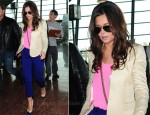Airport Style: Cheryl Cole In By Malene Birger, Splendid & Joseph