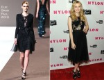 Emma Roberts In Elie Saab - Nylon Magazine Young Hollywood Party