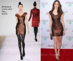"Emmy Rossum In Monique Lhuillier - ""Beauty Culture"" At The Annenberg Space For Photography Opening Night"
