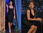 Eva Mendes In Elie Saab - 'Late Night With Jimmy Fallon'