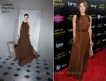 Eva Mendes In Lanvin - 2011 Young Hollywood Awards