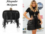 In Fergie's Closet - Alexander McQueen Fringe Leather Box Clutch