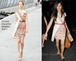 Sidewalk Style: Freida Pinto In Peter Pilotto