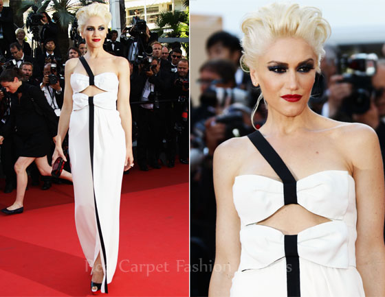 "Gwen Stefani was spotted in Christian Louboutin Lady Peep platform slingbacks at聽the ""This Must Be the Place""premiere during the 2011 Cannes Film Festival. These heels are available online in brown & black at Neiman Marcus."