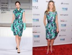 Hilary Swank In Oscar de la Renta - 2011 Joyful Heart Foundation Gala
