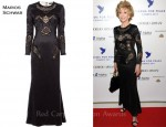 In Jane Fonda's Closet - Marios Schwab Lace Panel Dress