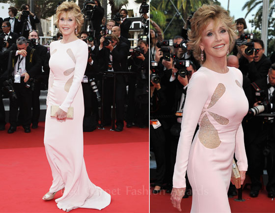 """cfc1da09820 Jane Fonda restores the balance looking amazing on the red carpet for the 2011  Cannes Film Festival """"Sleeping ..."""