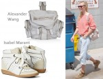 In Kate Bosworth's Closet - Alexander Wang Marti Bag & Isabel Marant Betty Wedge Trainers