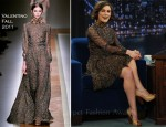 "Keira Knightley In Valentino - ""Late Night With Jimmy Fallon"""