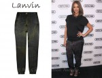 In Jessica Alba's Closet - Lanvin Printed Silk Pants