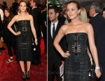 Leighton Meester In Louis Vuitton - 2011 Met Gala