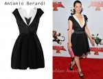 In Lucy Liu's Closet - Antonio Berardi Jacquard and crepe dress