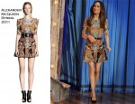 "Maggie Q In Alexander McQueen - ""Late Night With Jimmy Fallon"""