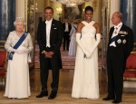 Michelle Obama In Tom Ford - Buckingham Palace State Banquet