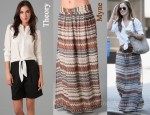 In Minka Kelly's Closet - Theory Blouse & Myne Print Maxi Skirt