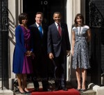 Michelle Obama In Roksanda Ilincic & Samantha Cameron In Peter Pilotto - 10 Downing Street
