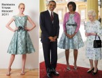 Michelle Obama In Barbara Tfank - Buckingham Palace State Visit