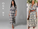 In Eva Marcille's Closet - One by Printed Long Dress