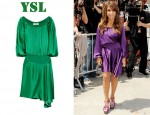 In Paula Abdul's Closet - YSL Draped Silk Dress
