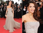 Salma Hayek In Gucci Première - 2011 Cannes Film Festival Opening Ceremony