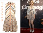 In Saoirse Ronan's Closet - Topshop Chevron Stripe Floral Playsuit