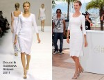 Uma Thurman In Dolce & Gabbana - 2011 Cannes Film Festival Jury Photocall