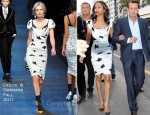 "Zoe Saldana In Dolce & Gabbana - ""Le Grand Journal"""
