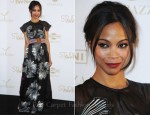 "Zoe Saldana In Vionnet - ""The Tree Of Life"" Cannes Film Festival Party"