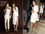 "Rosie Huntington-Whiteley In Burberry Prorsum - ""Transformers: Dark Of The Moon"" London Premiere After-Party"