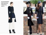 Catherine, Duchess of Cambridge In Alexander McQueen - The Irish Guards Medal Parade