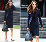 Heathrow Style: Catherine, Duchess of Cambridge In Roland Mouret, Smythe & Mulberry