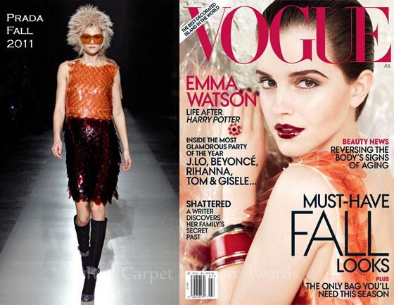 emma watson vogue 2011 us. Emma Watson For Vogue US July