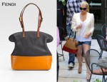 In Jessica Simpson's Closet - Fendi Borsa Colour-Block Tote